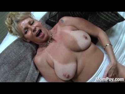 Busty cougar fucked in the shower