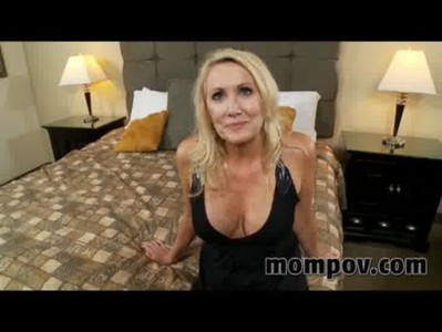 blonde milf gets a facial