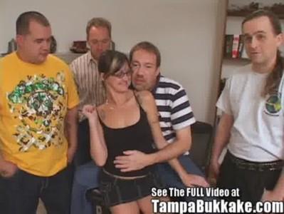Cum On Her Glasses Tampa Bukkake Party