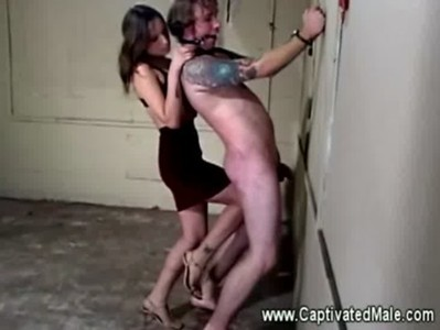 Amber rayne whipping worthless slave for his punishment